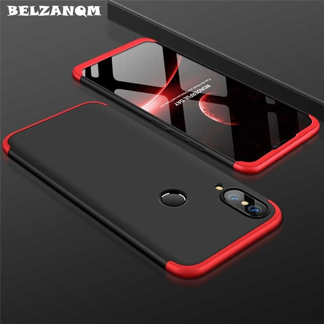 various colors ad2b6 bc7b9 US $4.09 |360 Full Body Protection 3 in 1 For Huawei Nova 3E Cases Hard PC  Phone Case Coque For Huawei P20 Lite nova 3E Cover Fundas Capa-in Fitted ...
