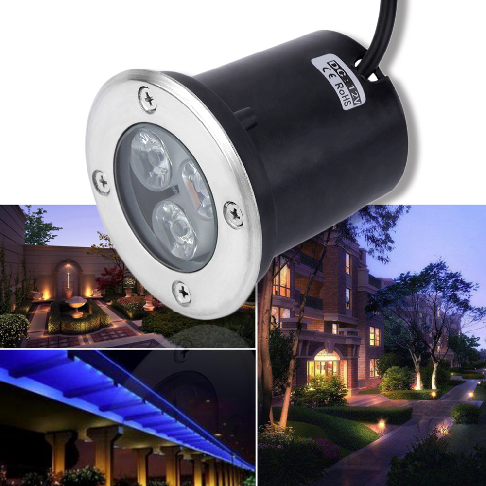 2018 Waterproof led light garden underground 1W - 5W IP67 Outdoor Buried Garden Path Spot Recessed Inground Lighting