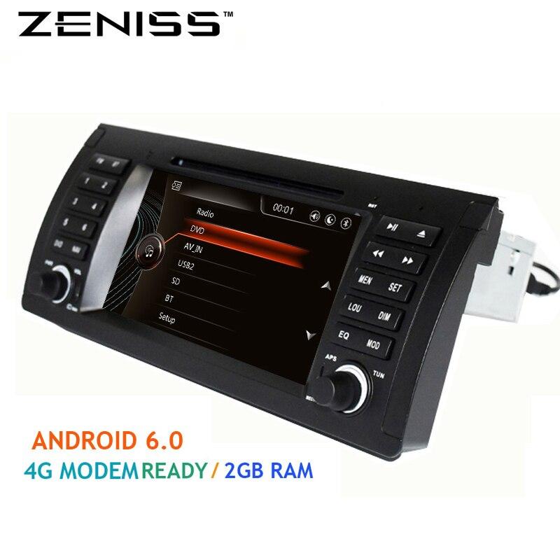 imágenes para Envío gratis 1din 7 ''Android 6.0 de DVD Del Coche para BMW E53 E39 X5 con 4G Módem 2 GB DDR3 1024X600 Bluetooth4.0 TPMS DVR