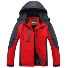 2017 Men's Winter Jackets Thicken Velvet Outwear Coat Male Hooded Parkas Thermal Warm Windproof Waterproof Jacket Plus Size 5XL