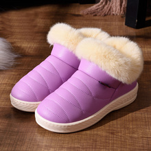 Women Snow Boots Winter Warm Fur Ankle Boots Couple Thick Sole Cotton Shoes Woman Flats Waterproof Anti-skid Botas Mujer Zapatos