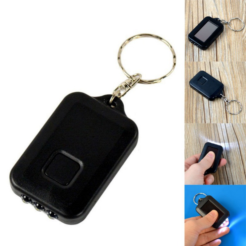 Mini Portable LED Light Keychain Key Ring Torch Flashlight With Rechargeable Built-in Battery Outdoor Emergency Light