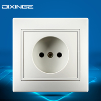 16A EU Socket Wall Pad White European German Standard Wall Socket Power Supply Outlet Panel Charger