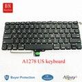 5 Unids/lote Genuino Teclado EE.UU. Para Apple Macbook Pro 13 ''A1278 Americana EE. UU. Teclado Con Luz de Fondo
