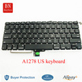 5PCS/Lot Genuine US Keyboard For Apple Macbook Pro 13'' A1278 US American Keyboard With Backlight