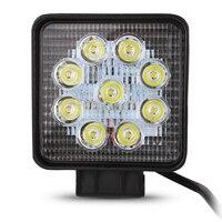 Universal Motorcycle Car Truck 27W LED Work Light Lamp Round LED 12V 24V Spot Flood Lights