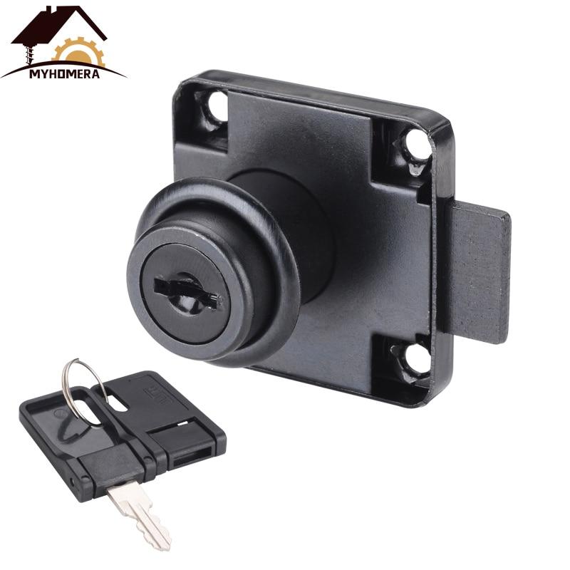 Myhomera Drawer Locks With 2 Keys Cabinet Lock Rolled Steel Mailbox Office Desk Letter Box Furniture Hardware Cam Locks DIY