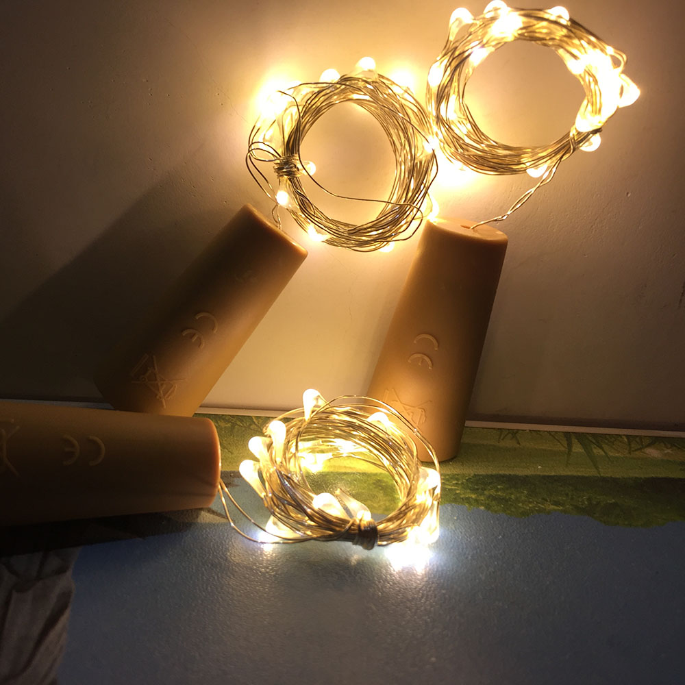 LED String Lights 2M 20LED Copper Wire Fairy Light Christmas Wedding Party Decoration Powered By AG13 Battery Led Strip Lamp