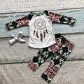 Meninas por atacado dream catcher boutiques de roupas babay meninas Cair roupas meninas do bebê roupas de bebê meninas Azect pant com headband