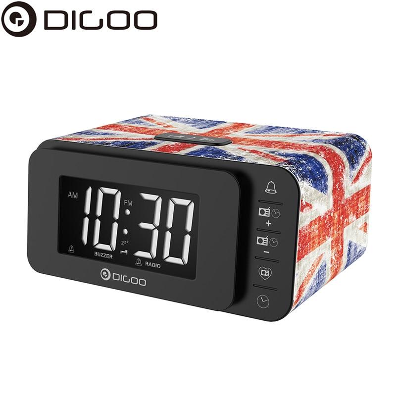 Digoo DG-FR8888 Multi-function Smart Botton Digital Alarm Clock With FM Radio Speaker Memory Function Dual Daily Alarms