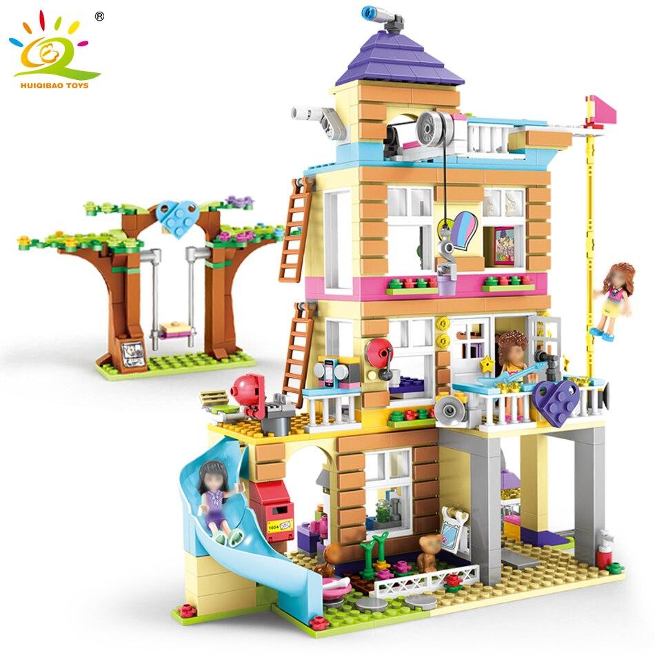 708 pcs Filles Amitié Secret Maison Building Blocks Compatible Legoed Amis Filles Chiffres Jouer Maison Briques Jouets Pour Enfants