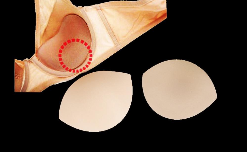 3 Paires Breast Enhancer triangle Soutien-Gorge Pads Inserts Bikini pour bustier noir