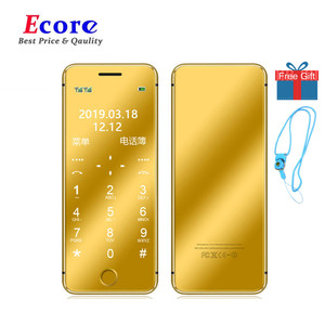 Original ULCOOL V6 V66 Plus Luxury Mobile Phone Dustproof Shockproof Ultrathin Card Phone With MP3 Bluetooth 1.67inch Cell Phone