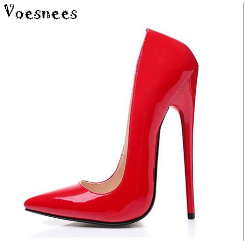 2017 Women Sandals Pumps Sexy High-heeled 16cm Pointed Toe Shallow Mouth Wedding Shoes Nightclub Shoes Large Size 34-43 SM Shoes sandals small open toe shoe 32 paillette bow 33 hasp high heeled shoes wedding shoes plus size women s shoes 43 free shiopping