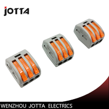 цена 50Pcs PCT-213 3 Pin Universal compact wire wiring connector conductor terminal block with lever онлайн в 2017 году