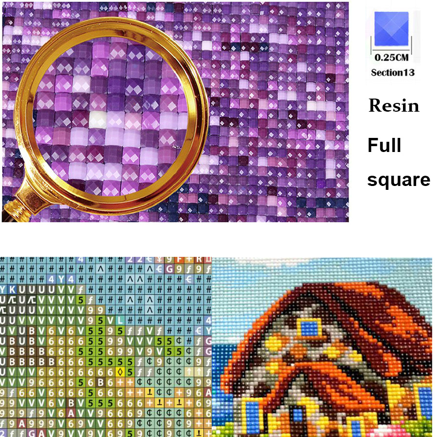Diamond Painting Merry Christmas Santa Claus Gift Bell 5D DIY Mosaic Full Square round Drill Diamond Embroidery-1