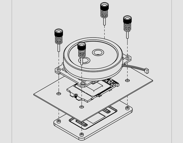 Barrow CPU Water Block use for AMD RYZEN AM3 AM3+ AM4 Socket Acrylic +  Copper Radiator RGB 5V GND to 3PIN Hearder in Motherboard