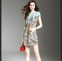 Для женщин 100% натурального шелка платье Роскошные печати натурального шелка платье натуральные ткани Высокое качество Лидер продаж Беспла
