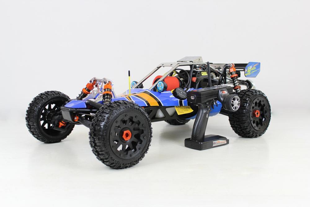 29CC sliver metal head baja baja cnc metal fuel tank assembly 85214 sliver color