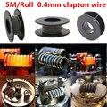 5 m/roll 32G * 26G (0.2mm * 0.4mm) alambre de la calefacción de Alambre de Clapton para RDA RBA Atomizador Rebuildable Bobina E-cigarrillo Vaporizador bobinas