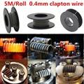 5 m/roll 32G * 26G (0.2mm * 0.4mm) fio de aquecimento fio de Clapton para RDA RBA Atomizador Rebuildable Bobina E-Cigarro Vaporizador bobinas
