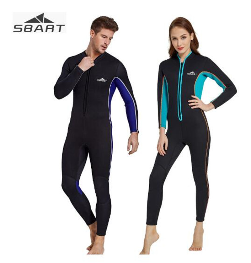SBART 3MM Neoprene Wetsuits Women Men's Scuba Diving Spearfishing Wet Suits One-Piece Keep Warm Scuba Snorkeling Diving Wetsuits цена