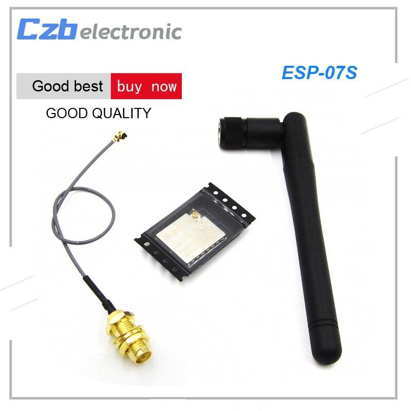 ESP8266 ESP-07S Serial WIFI Wireless Transceiver Module+2.4G SMA Antenna Extension Cable 3DBI Gain Antenna for ESP8266