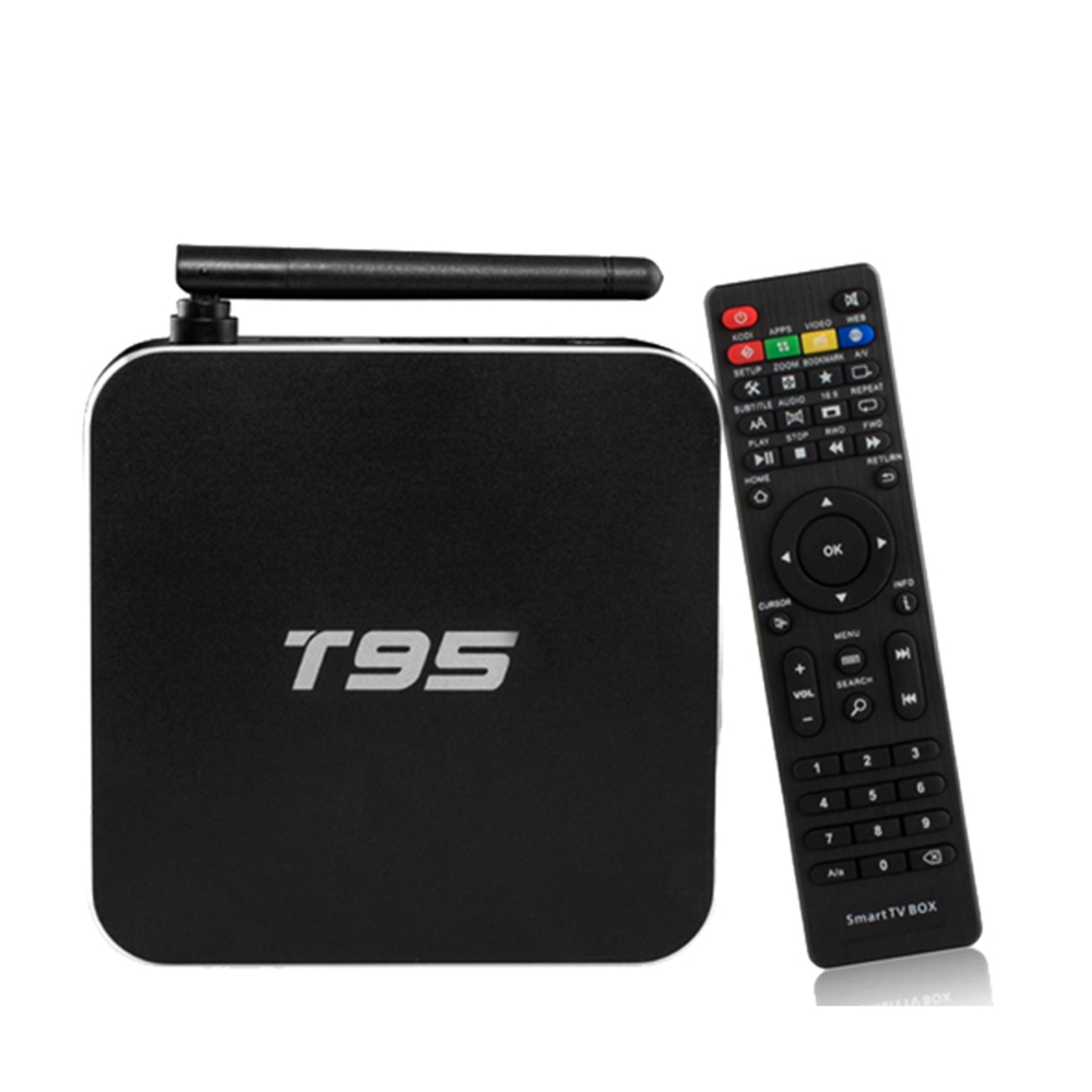 Original T95 Amlogic S905 Quad Core 2GB+8GB Android TV Box Ott TV Box Metal Case KODI 16.0 Full Loaded ADD ONS Pre-installed mx plus ii android tv box quad core amlogic s905 1g 8g rom smart tv box led display kodi 14 2 full loaded airplay apk