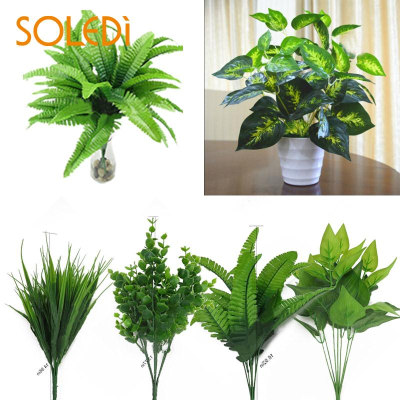 Plants Indoor Outdoor Fake Flower Leaf Foliage Bush Home Office Garden Decor Artificial Green Leave Plant DecorationPlants Indoor Outdoor Fake Flower Leaf Foliage Bush Home Office Garden Decor Artificial Green Leave Plant Decoration