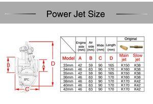 Image 5 - ZSDTRP Universal 21 24 26 28 30 32 33 34 35 36 38 40 42mm PWK carburatore carburatore moto per Keihin Koso ATV Power Jet