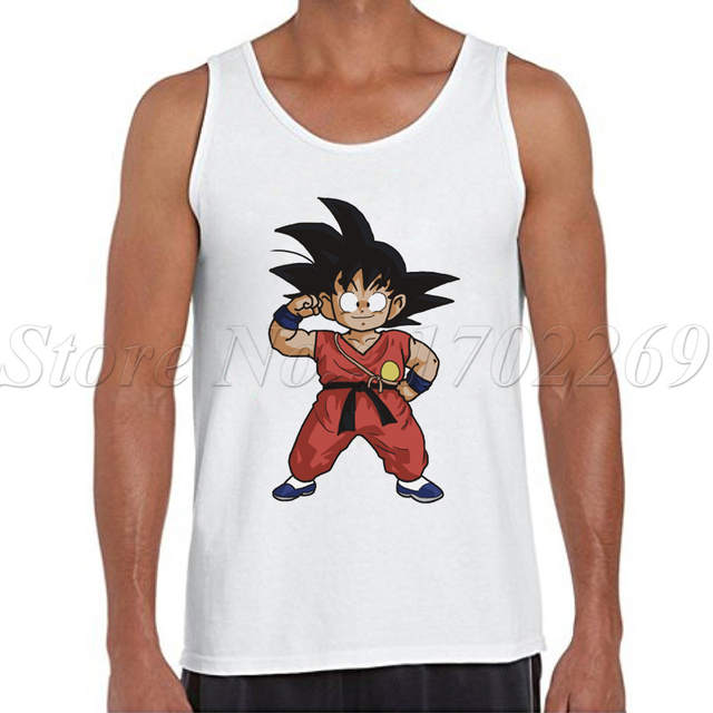 0ba0101366cac The Dragon Ball Z Super Saiyan Goku Men tank tops hipster funny cool Son  Goku cartoon