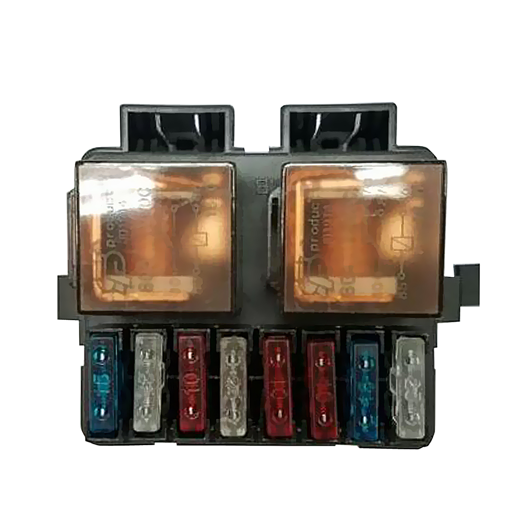 Universal Car Boat Truck Audio 12V 2-Way Relay Fuse Box Holder with 8 Fuses Sturdy and robust construction
