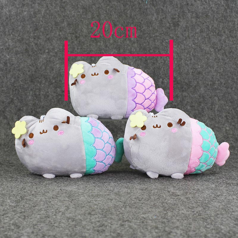 1pcs 20cm Pusheen Cat Plush font b Toys b font Pillow Pusheen Cos Mermaid Doll Baby