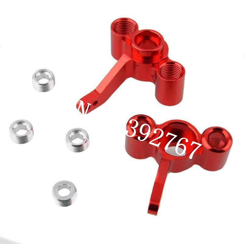 2P For FS Racing 511484 Aluminum Steering Hub Carrier(L/R)(Al.) 1/10 RC Car Remote Control Car Monster Truck Upgrade Parts Metal