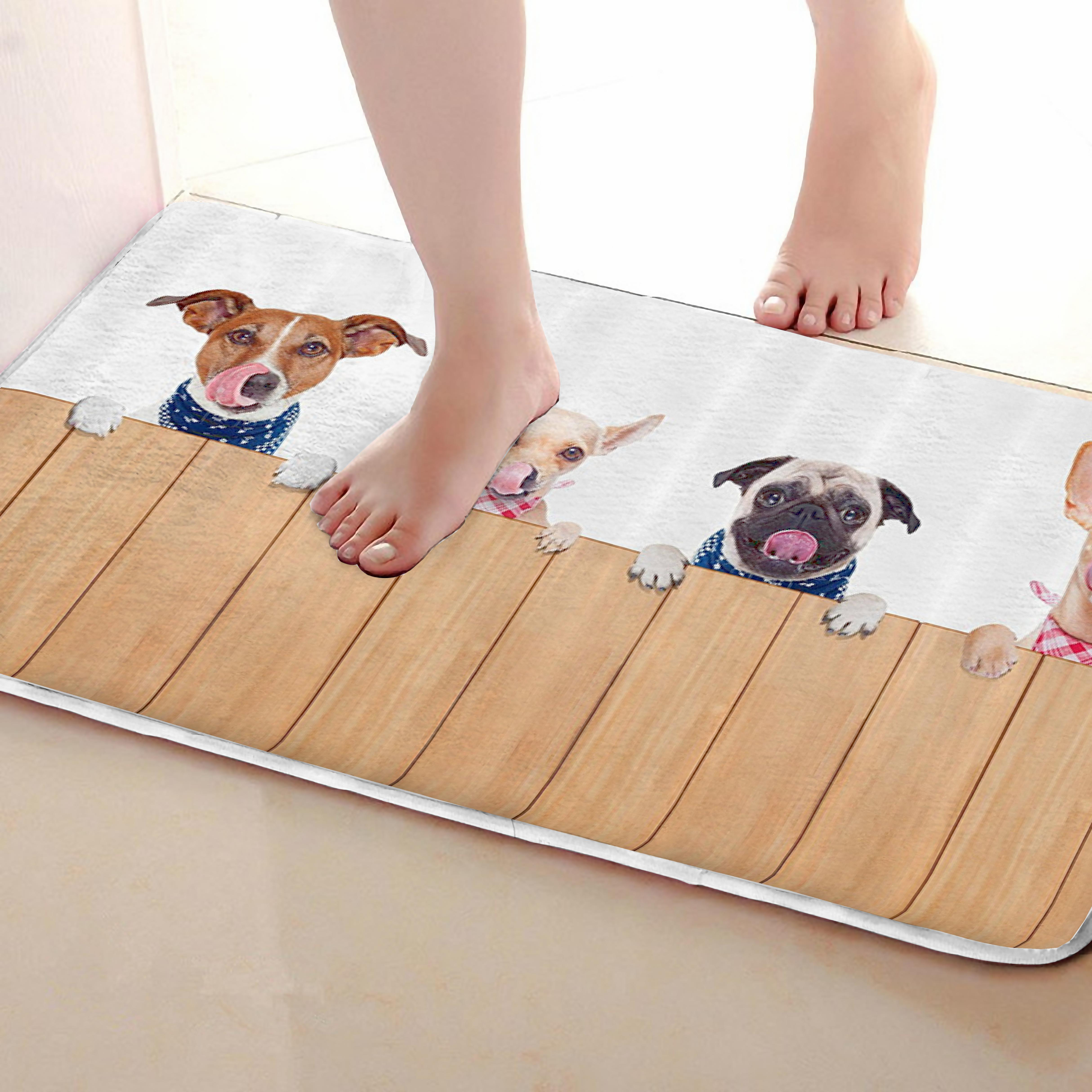 Dogs Style Bathroom Mat,Funny Anti skid Bath Mat,Shower Curtains Accessories,Matching Your Shower Curtain