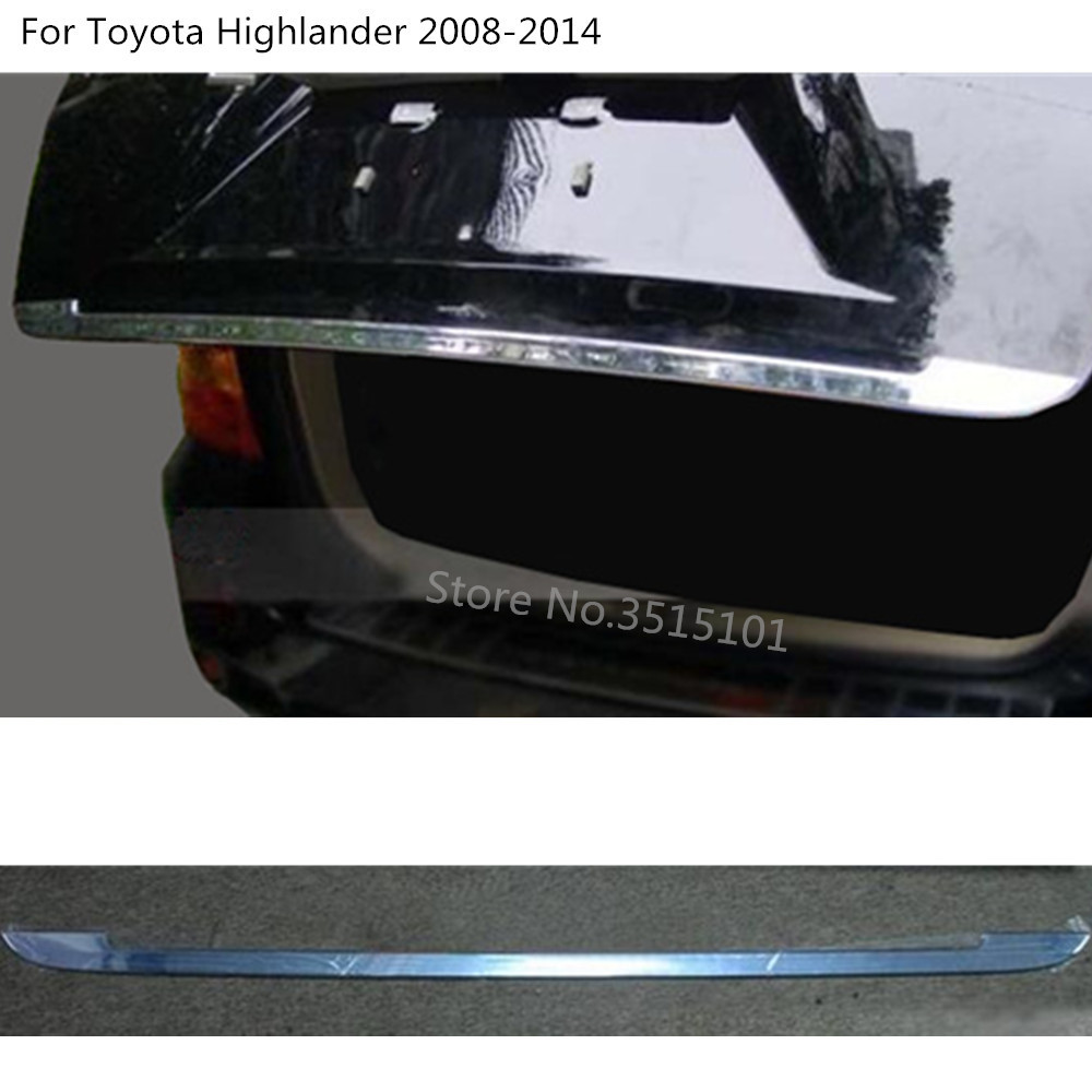 car styling body panel rear back door trunk tailgate frame plate trim For Toyota Highlander 2008 2009 2010 2011 2012 2013 2014 fit for volkswagen vw tiguan rear trunk scuff plate stainless steel 2010 2011 2012 2013 tiguan car styling auto accessories