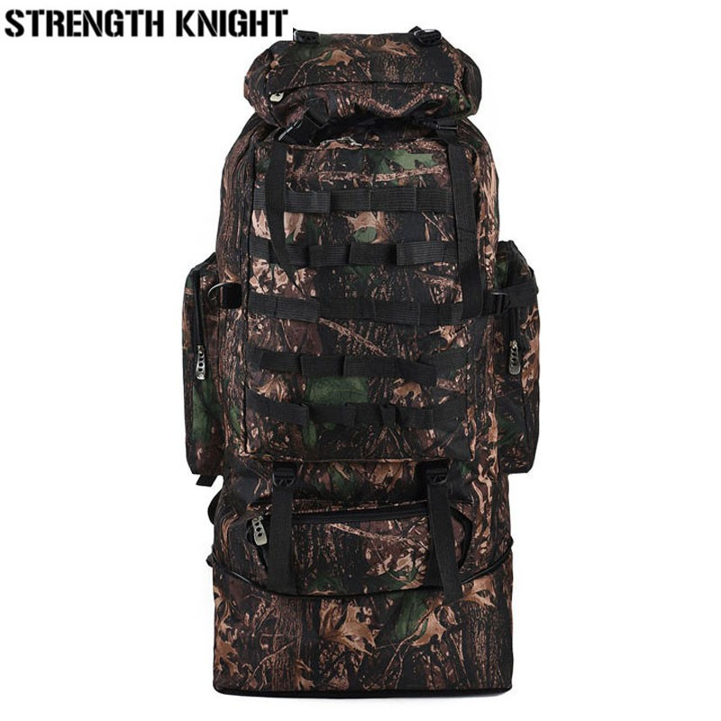 Waterproof Nylon Military Tactics Backpack Mountaineering Rucksack 75L Large Capacity Men Backpack for Hike Travel Backpacks 70 to 85l big large capacity adjustable multifunction out door travel backpack camouflage nylon tactics molle system rucksack