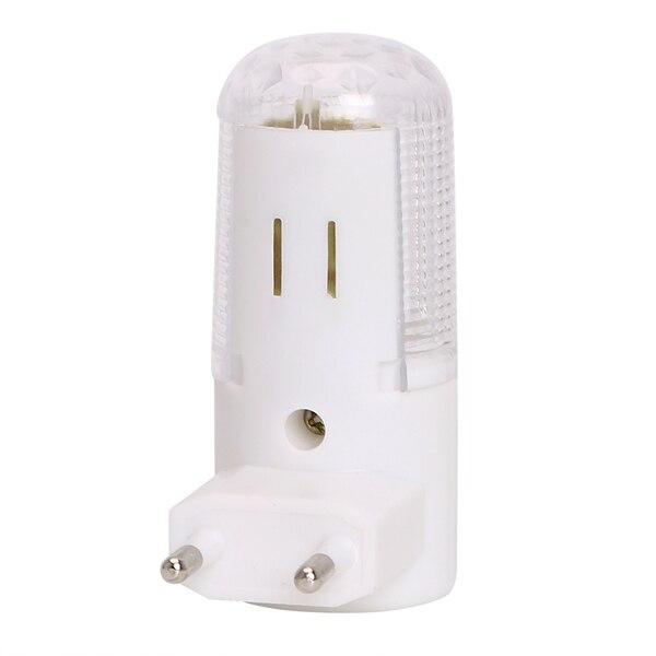 MINI LED Night Light AC220V Energy Saving Plug And Play Night Lamp With On/Off Push Button White Light