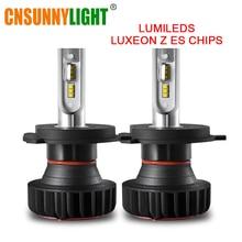CNSUNNYLIGHT H7 светодио дный H11 H4 H1 с Lumi светодио дный s зэс чипы 9900LM 72 W/set 9005 фары автомобиля лампы 9006 H8 туман лампы фары 12 В 24 В