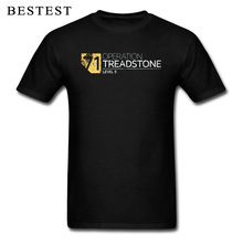 Retro Black T-shirt Men Operation Treadstone Tops & Tees Level 5 Tshirt Jason Bourne T Shirts 2019 Male Cotton Street Wear