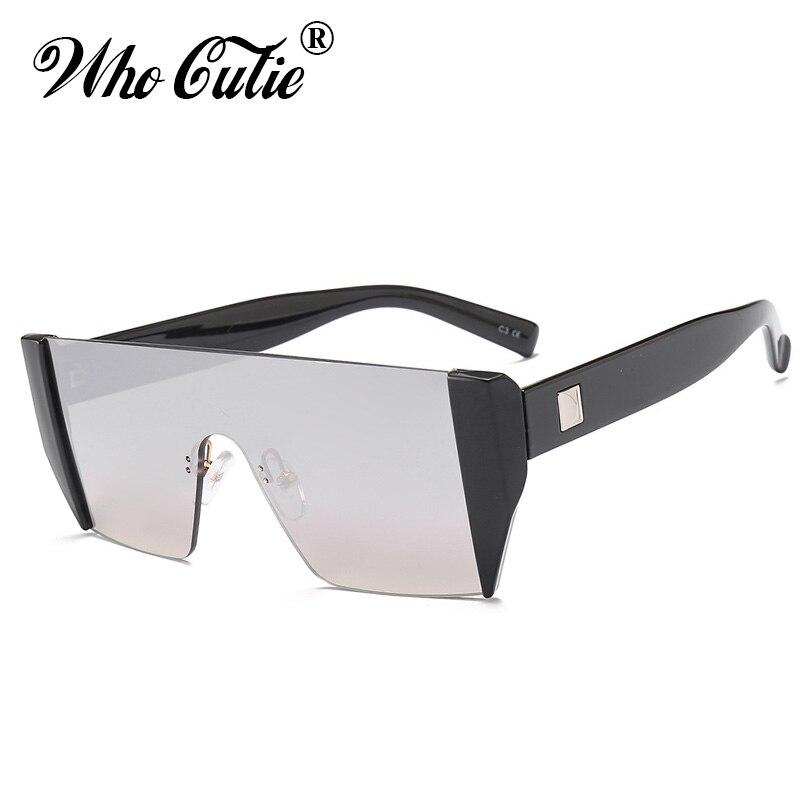 WHO CUTIE 2018 Cool Futuristic One Piece Sunglasses