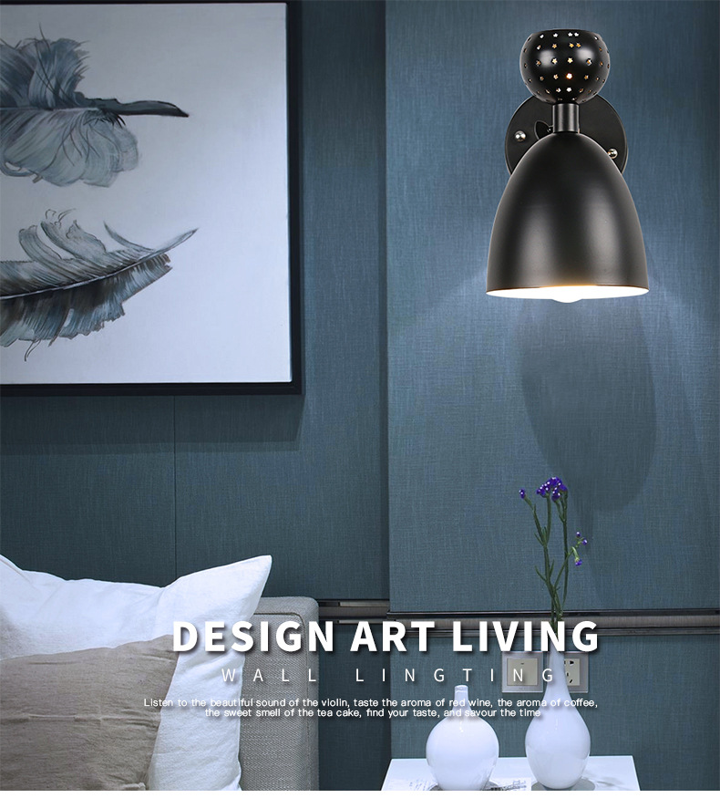 In European Style Copper Led Wall Lamp Corridor Aisle Bedroom Wall Lamps Fragrant Flavor