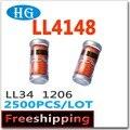 Smd ll4148 LL34 1206 2500 unids/lote 1n4148 4148 de 0,5 W 1/2 W 100 V 0.2A de pdf dentro podemos ofrecer muestras gratis de diodos zener