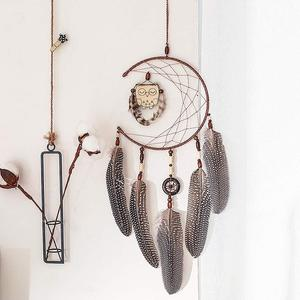 Hanging Dream Catcher With Fea