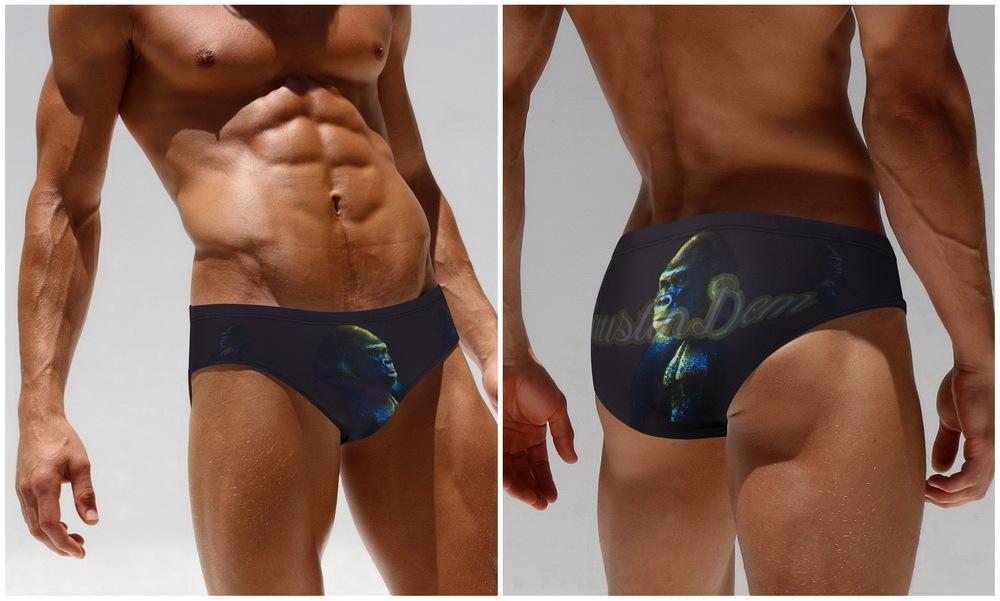 Topdudes.com - Men's Sexy Low Waist 3D Print Summer Beach Swimwear