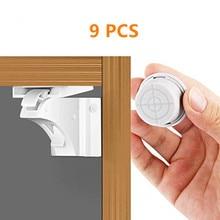 Магнитный& Детские замки для защитного шкафа 9 штук товара или на сумму водонепроницаемый шкаф, ящики с клейкой лентой 3M& винт, белый
