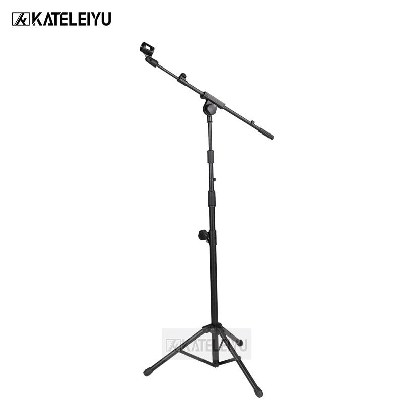 все цены на BY-830 Professional swing boom floor stand microphone holder Flexible Stage Microphone Stand Tripod онлайн