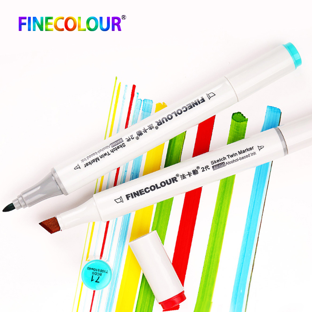 1/2/3pcs Finecolour EF101 Double Headed Alcohol Based Ink Markers Sketch Manga Drawing Cheap Art Marker 160 Color image