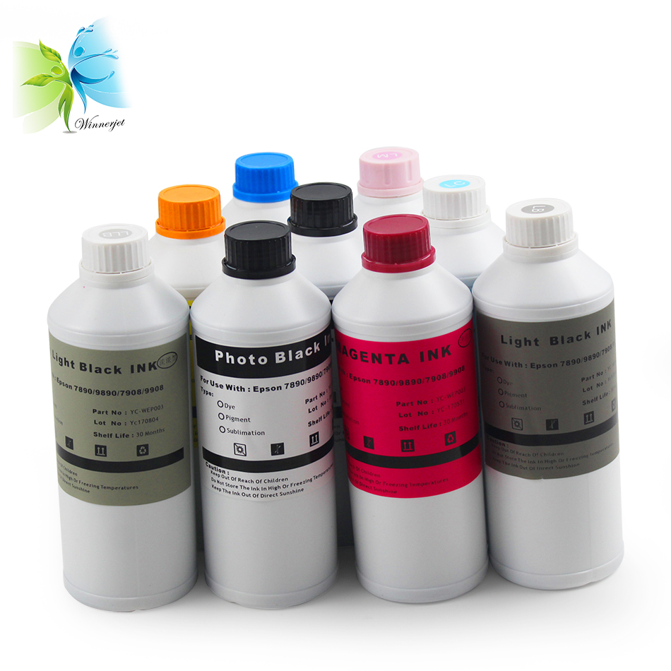 US $205 2 5% OFF|Transfer printing dye Sublimation ink for Epson stylus pro  7890 9890 7908 9908 inkjet printer for sublimation shirt-in Ink Refill