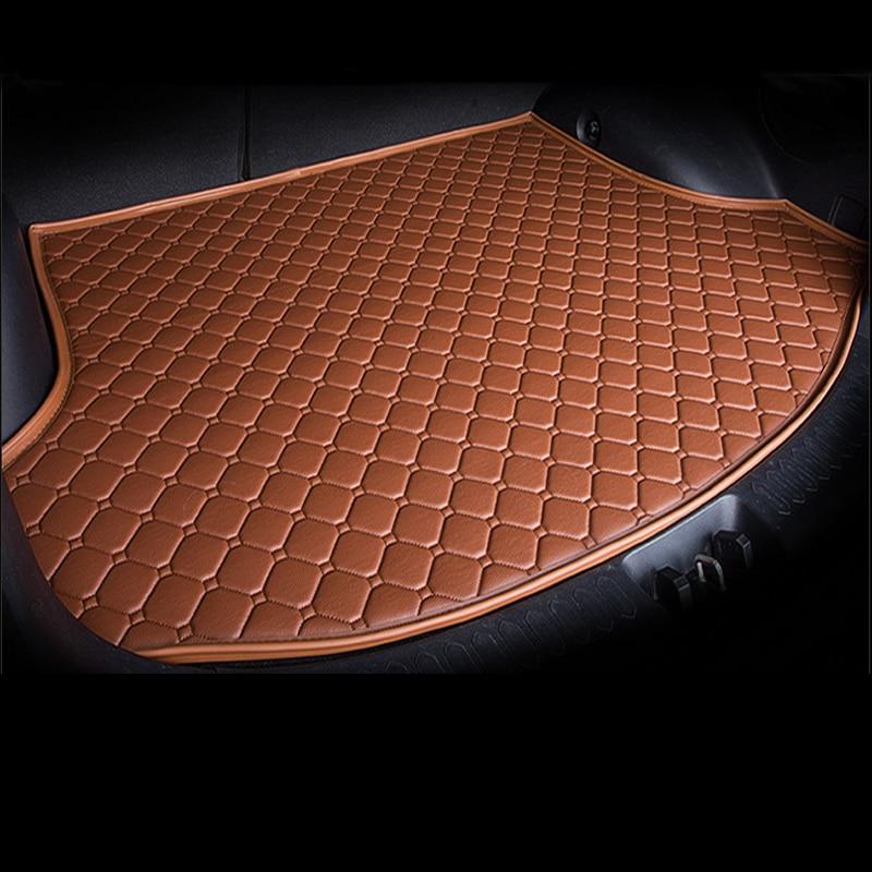 Tapis de coffre de doublure de cargaison en cuir sur mesure pour Mini 2/4 portes Clubman Countryman tapis de protection de boue arrière plateau de plancher de bagages JH03 - 2